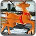 圣诞老人的驯鹿-女孩